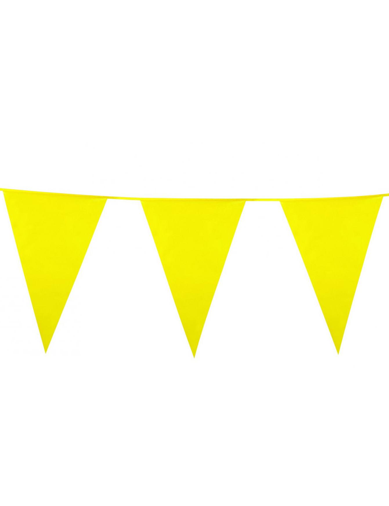 Decoration Guirlande Lumineuse Jaune : Guirlande fanions jaune deguise toi achat de decoration