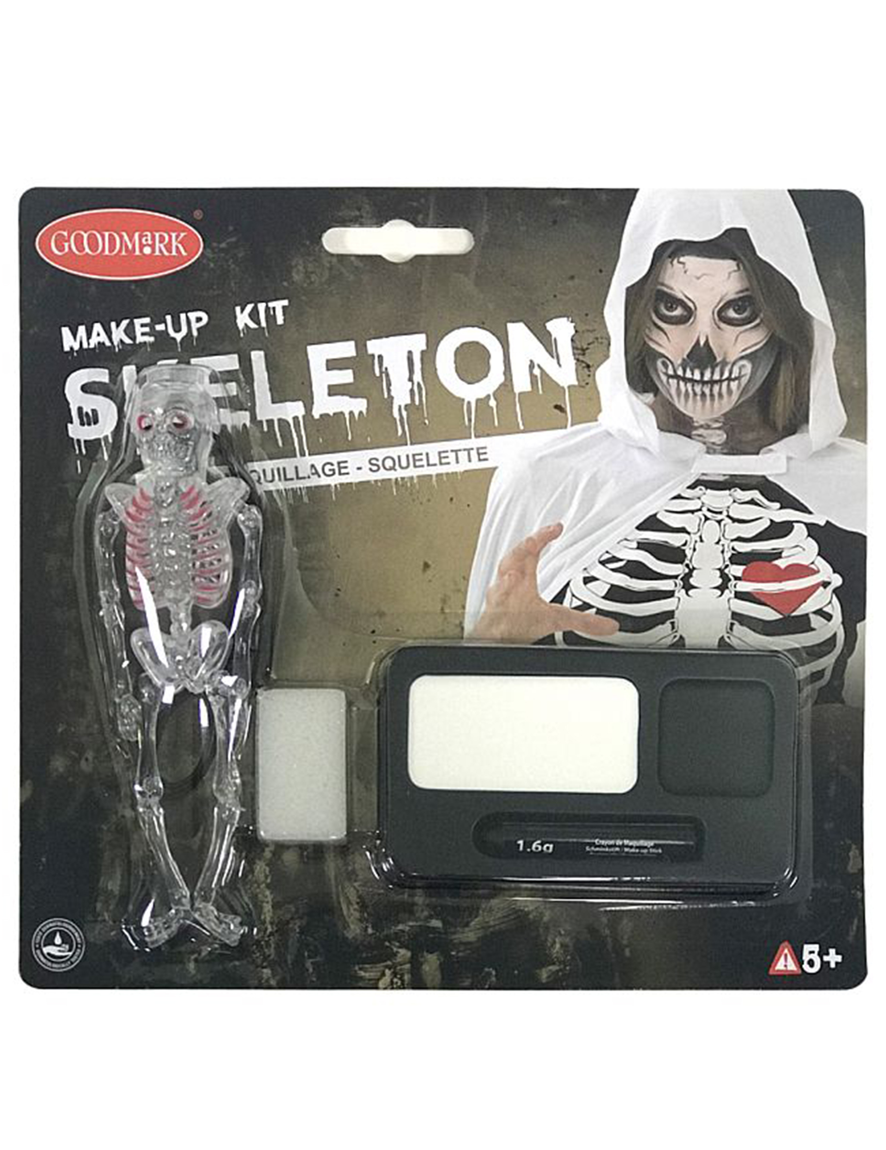 Kit maquillage squelette adulte halloween - Maquillage squelette halloween ...