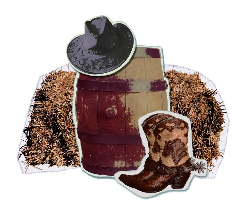 D coration murale ranch western deguise toi achat de for Decoration western country