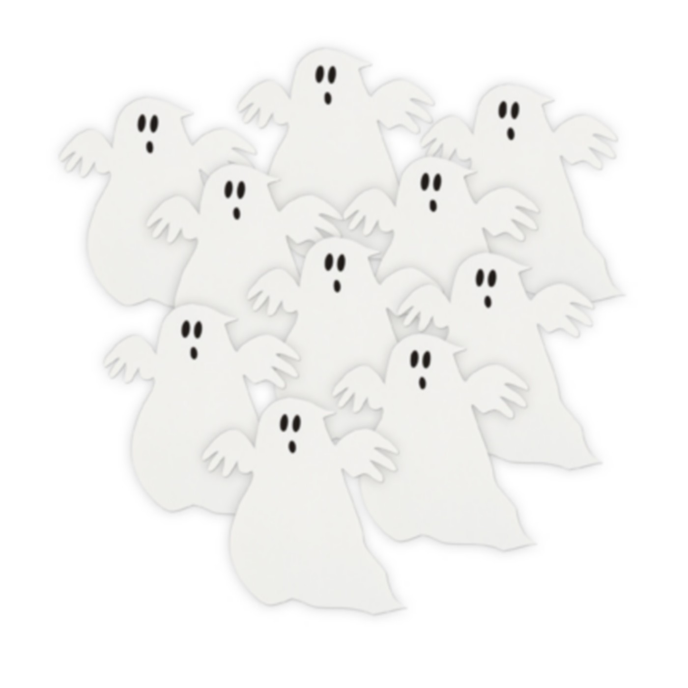D corations de table fant me halloween - Fantome halloween ...