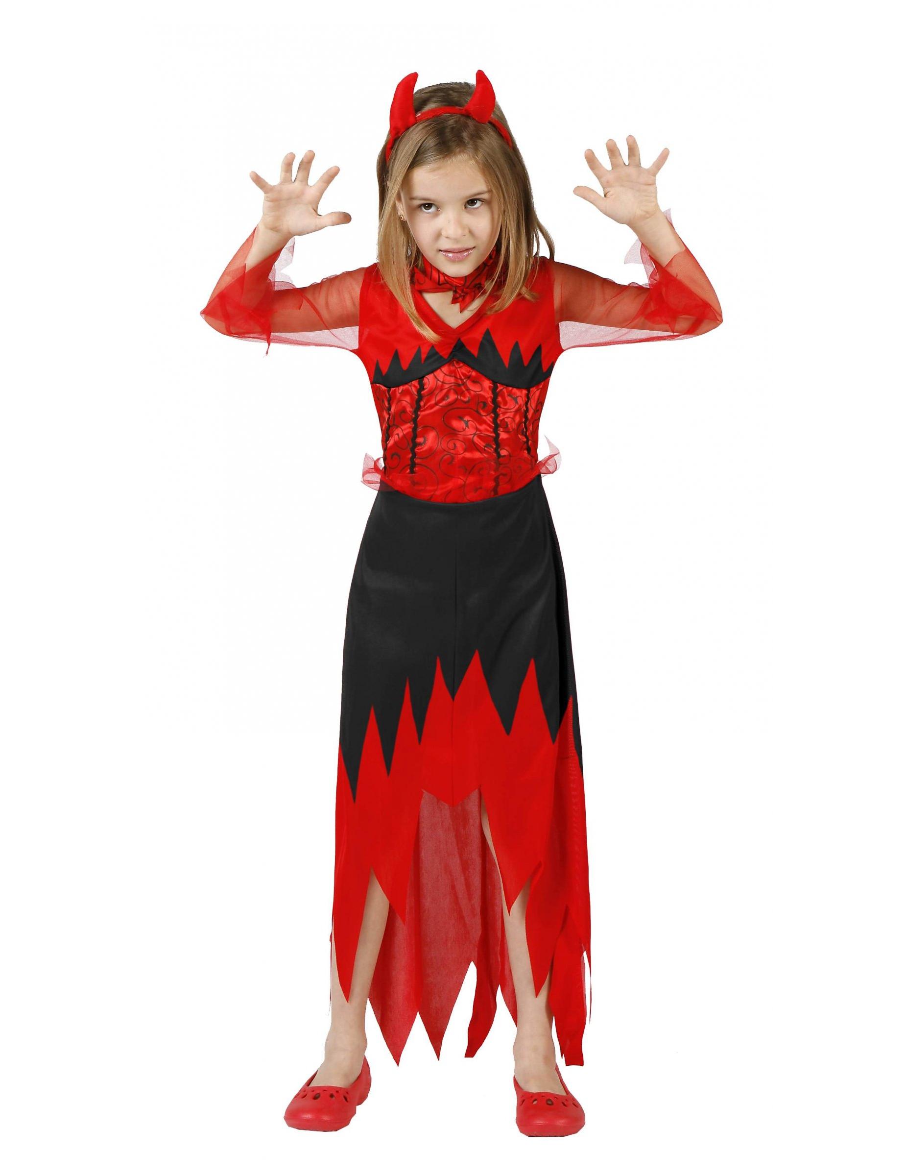 D guisement de diablesse pas cher pour enfant deguisetoi - Maquillage diablesse halloween ...
