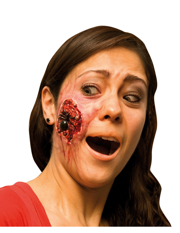 Fausse blessure araign e adulte halloween achat de maquillage sur vegaoopro grossiste en - Maquillage araignee visage ...