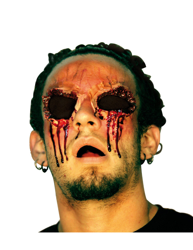 Fausse blessure sans yeux adulte halloween achat de for Comidee maquillage halloween adulte