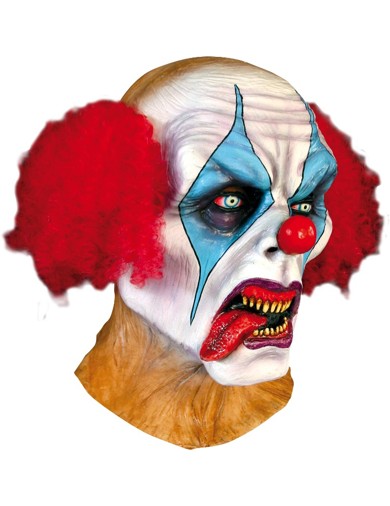 Masque clown psycopathe adulte halloween for Decoration fenetre clown