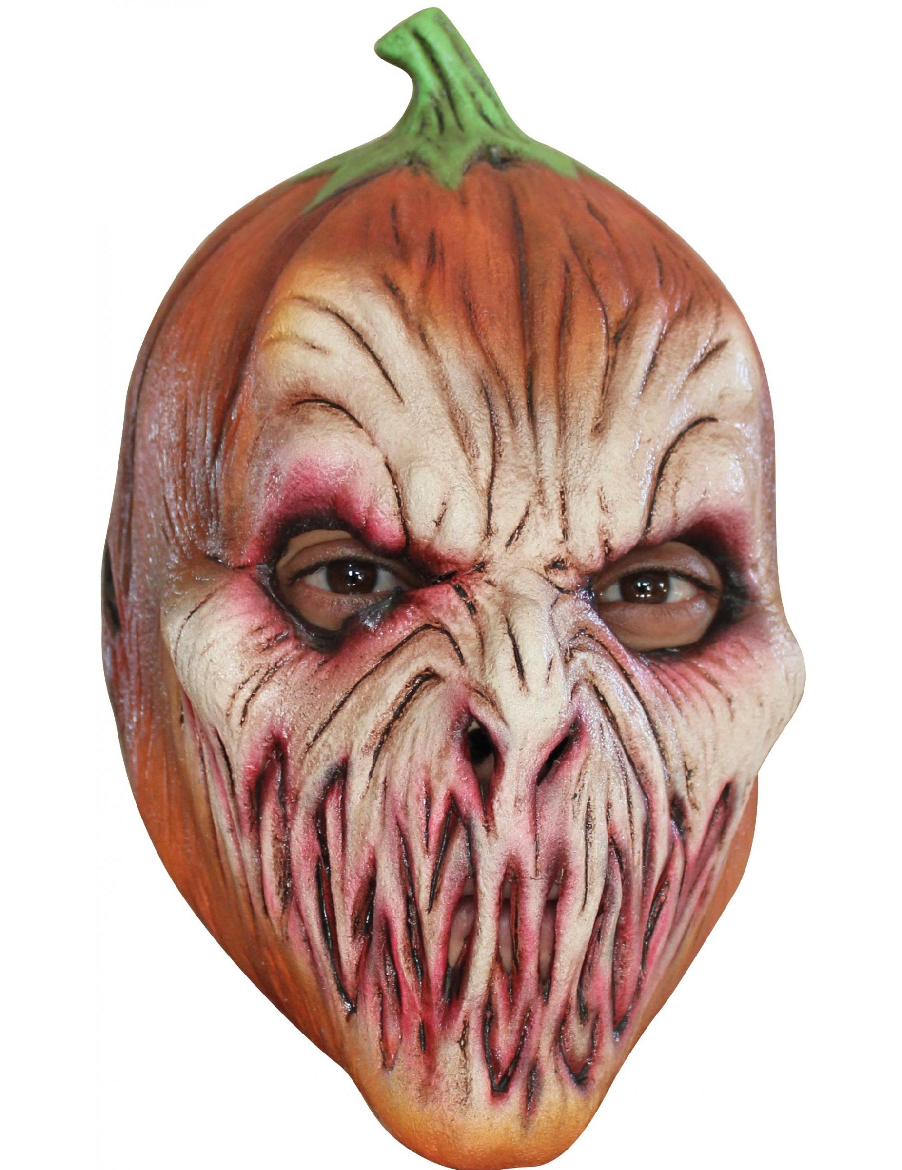 Masque citrouille effrayante enfant halloween - Citrouille effrayante ...