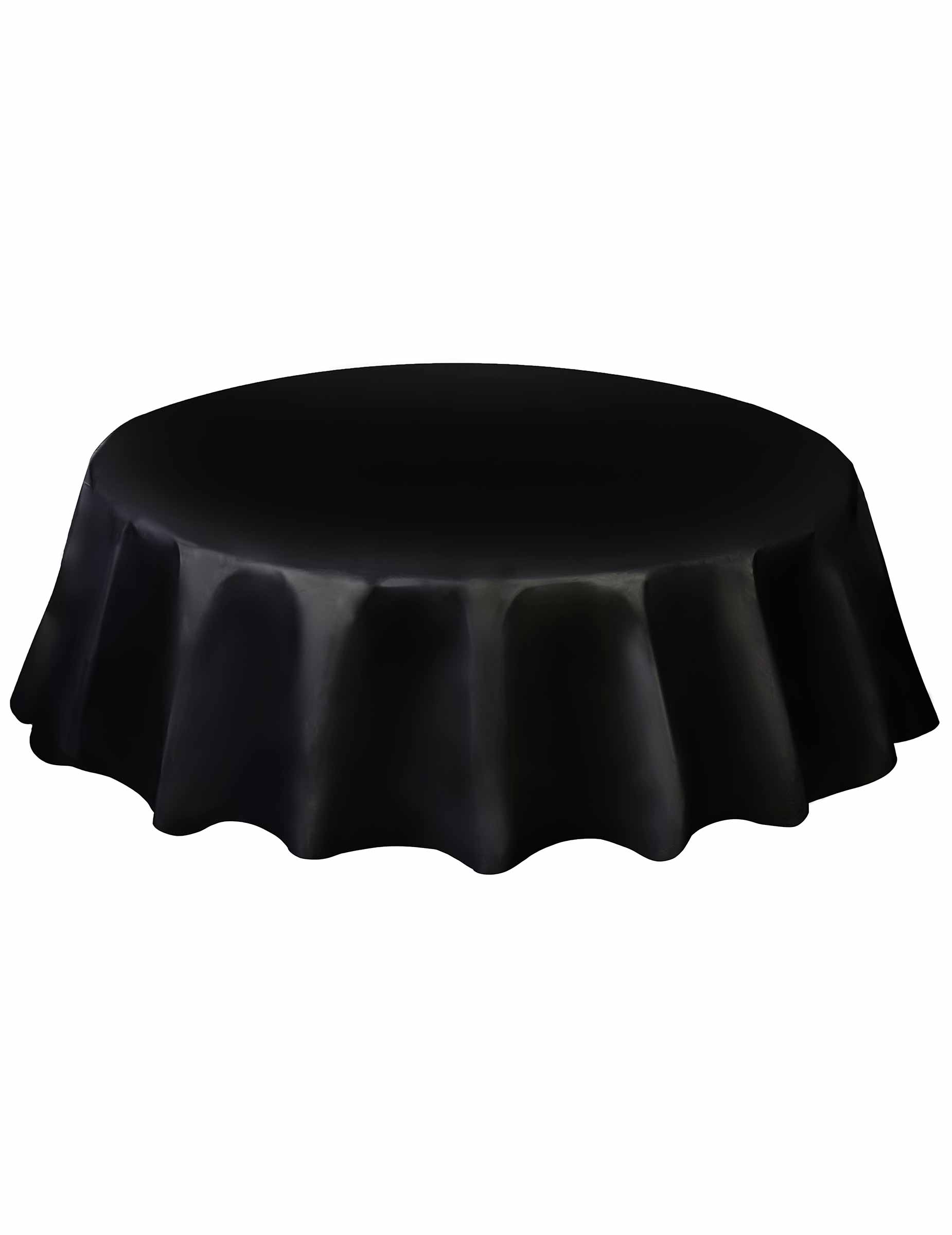 nappe ronde en plastique noire. Black Bedroom Furniture Sets. Home Design Ideas