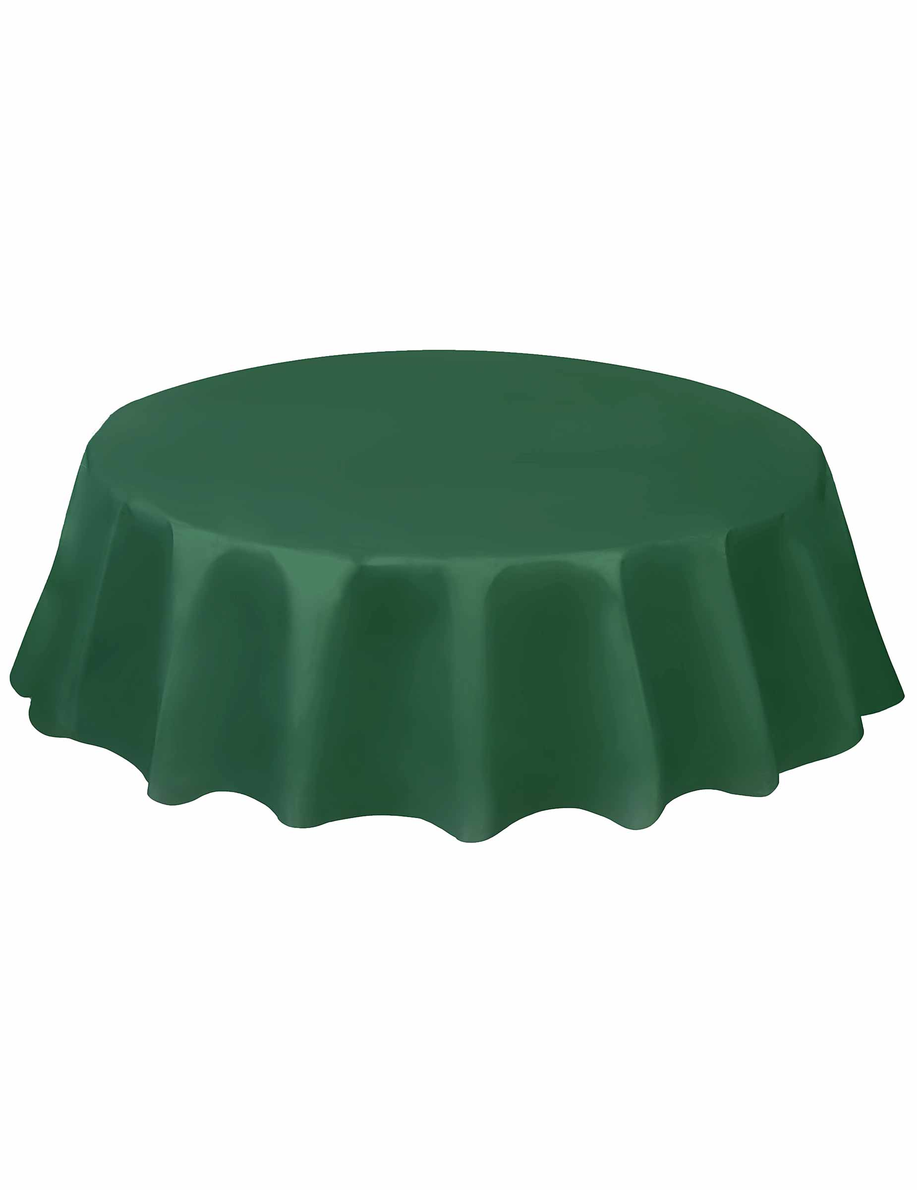 nappe ronde en plastique vert fonc deguise toi achat de decoration animation. Black Bedroom Furniture Sets. Home Design Ideas