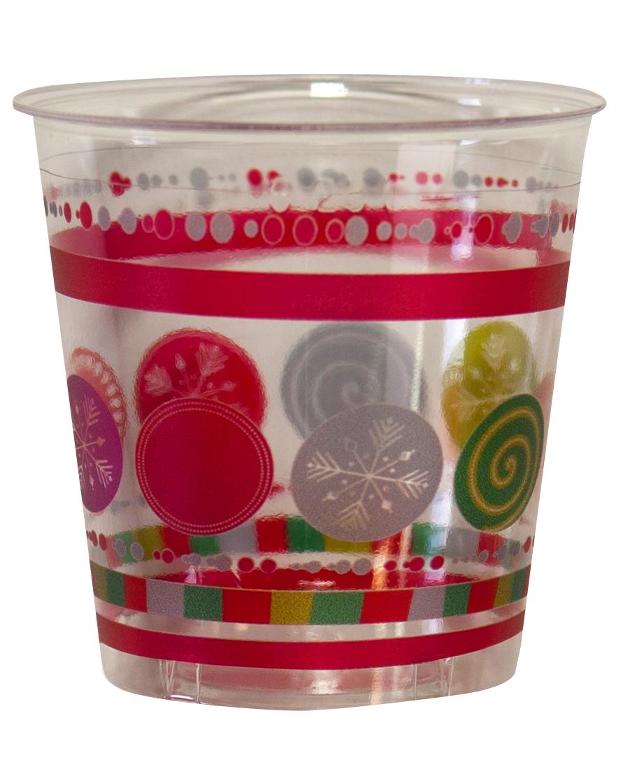 10 gobelets cristal boules de no l achat de decoration animation sur vegao - Grossiste boule de noel ...