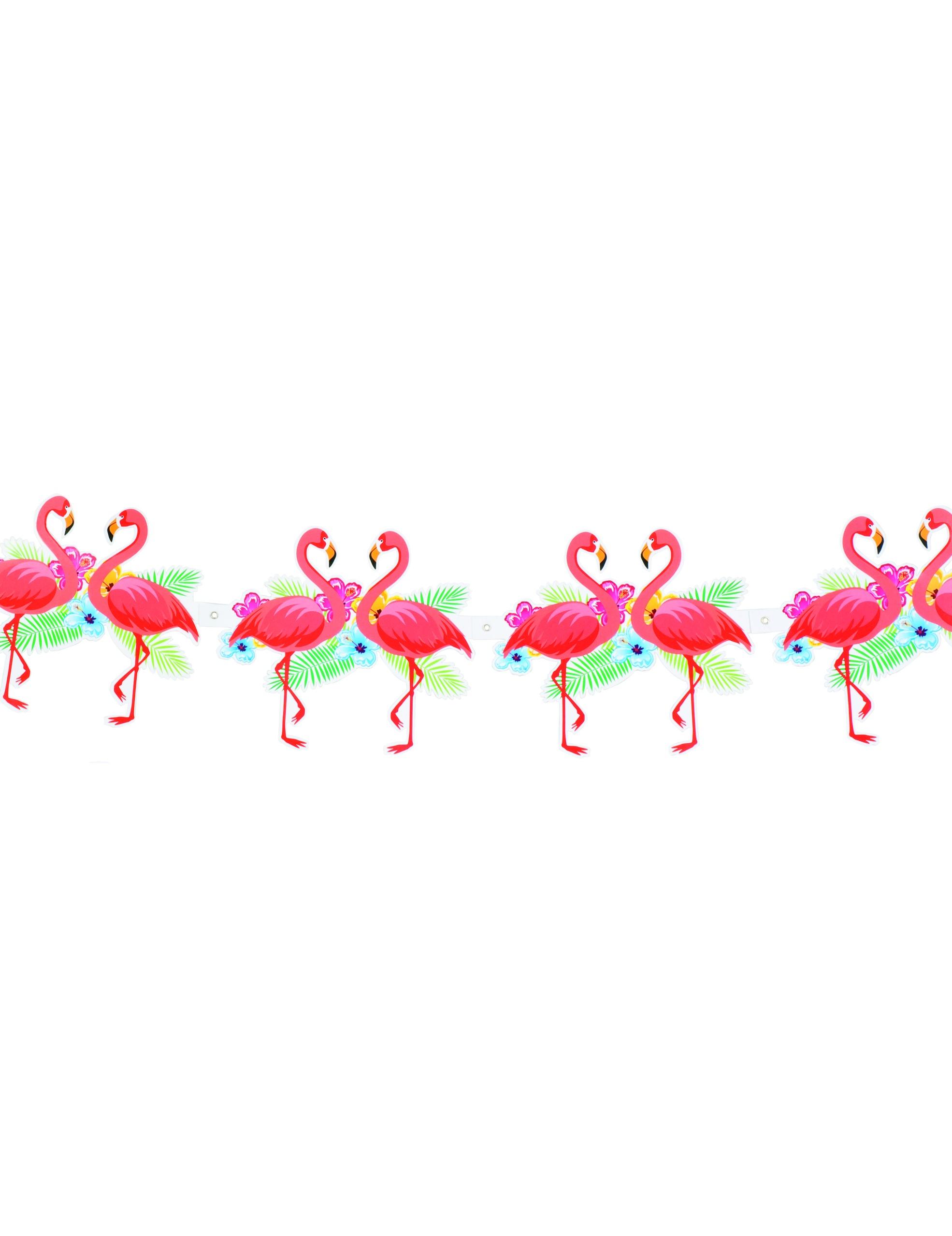 Guirlande flamant rose hawa cartonn e achat de decoration animation sur v - Decoration flamant rose ...