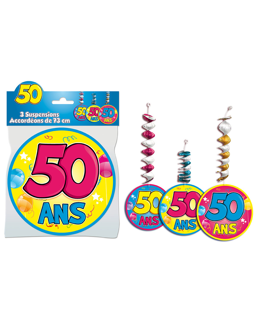 3 d corations suspendre accord on 50 ans achat de for Decoration 50 ans