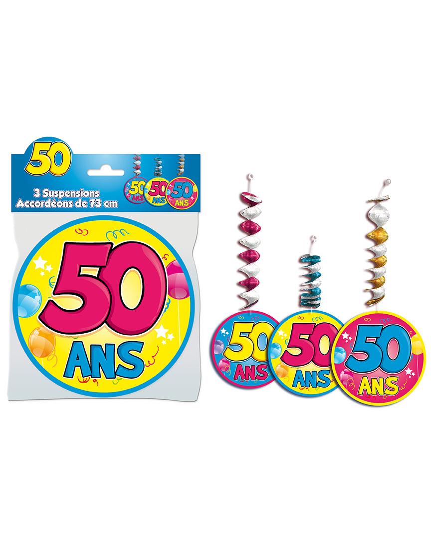 3 d corations suspendre accord on 50 ans achat de for Decoration 50 ans