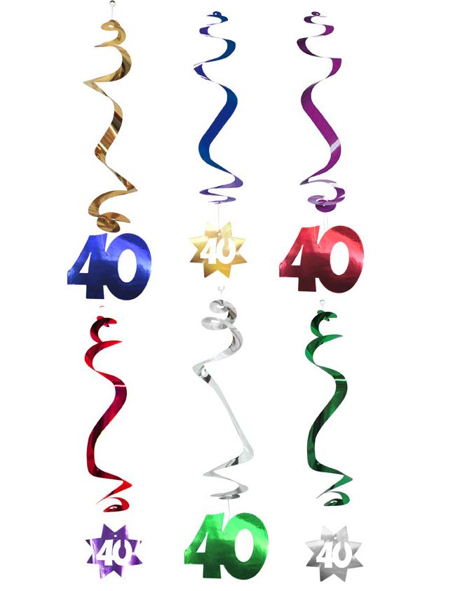 Decoraci n para colgar 40 a os decoraci n y disfraces for Decoracion 40