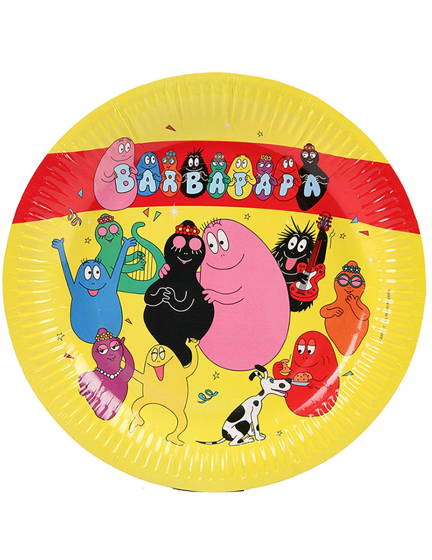 6 assiettes barbapapa achat de decoration animation sur vegaoopro grossiste en d guisements - Decoration anniversaire barbapapa ...