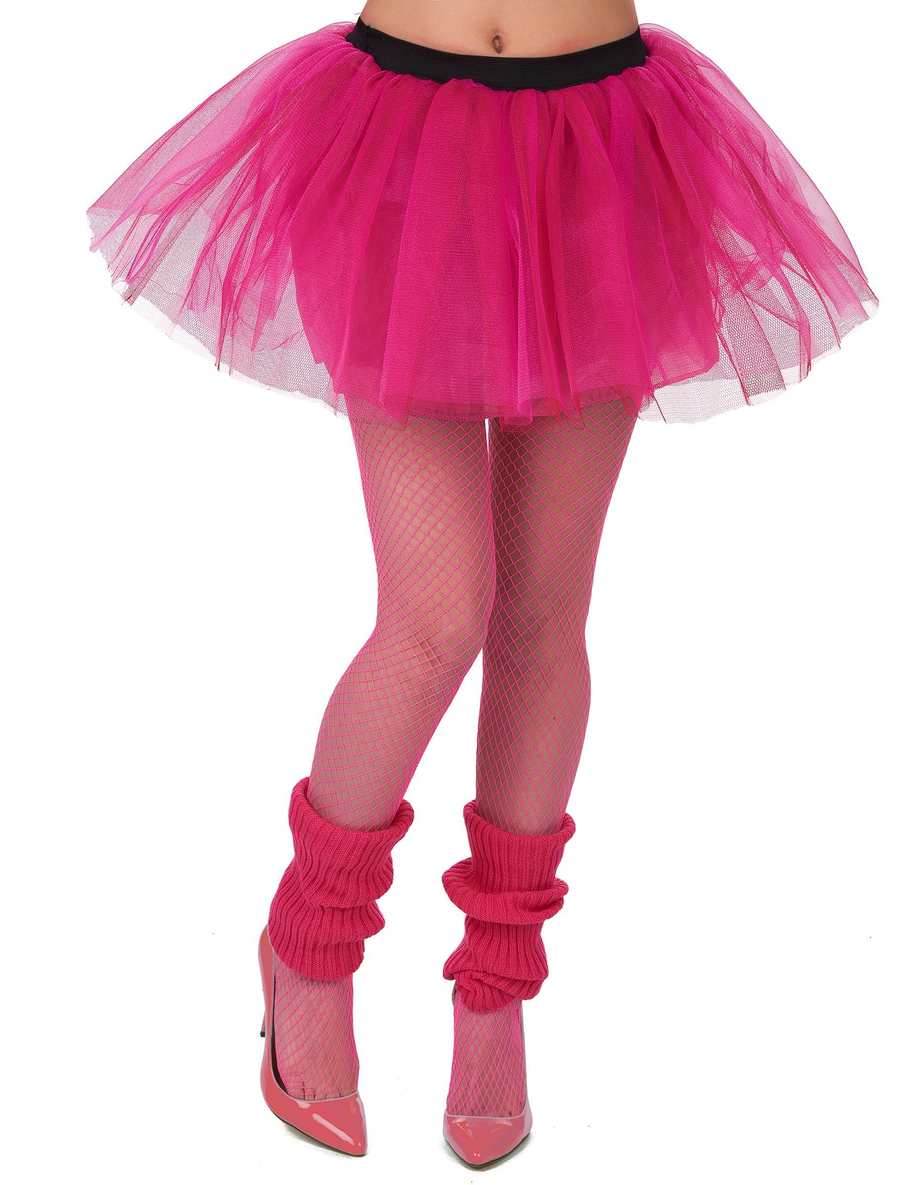Tutu rose fluo femme   Deguise-toi 442fe3d2195