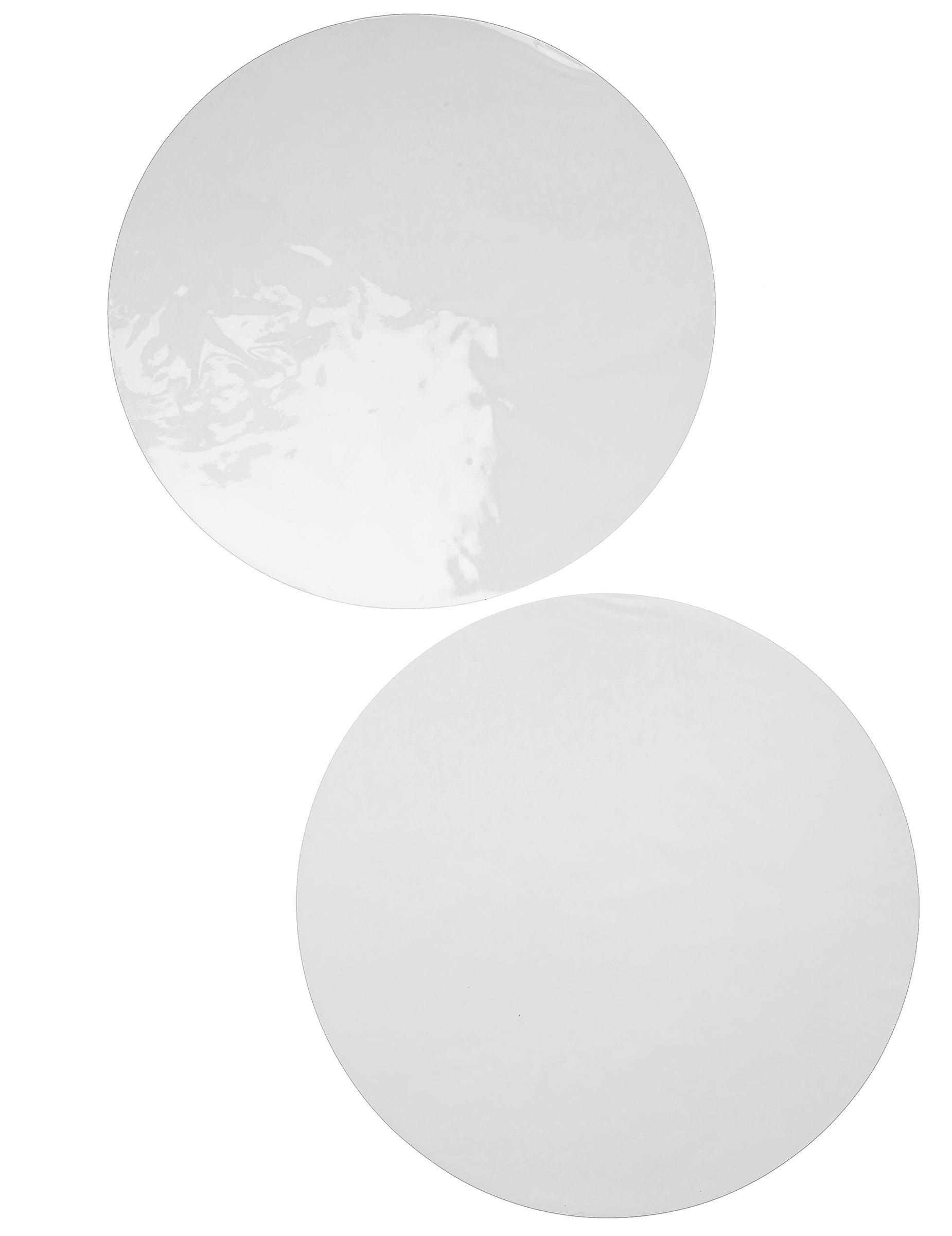 6 sets de table rond blanc achat de decoration - Set de table rond plastique ...