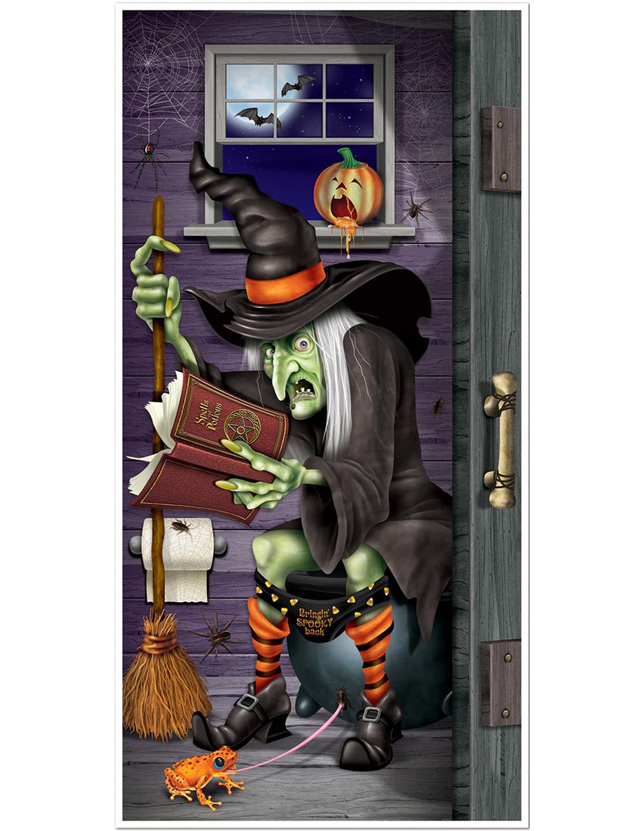 Decoracion Baño Halloween:Decoración de puerta bruja en el baño Halloween : Decoración, y