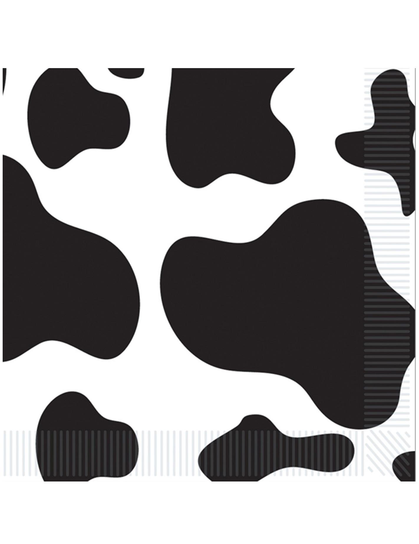 16 serviettes en papier peau de vache 33 x 33 cm deguise toi achat de deco - La bergerie peau de vache ...