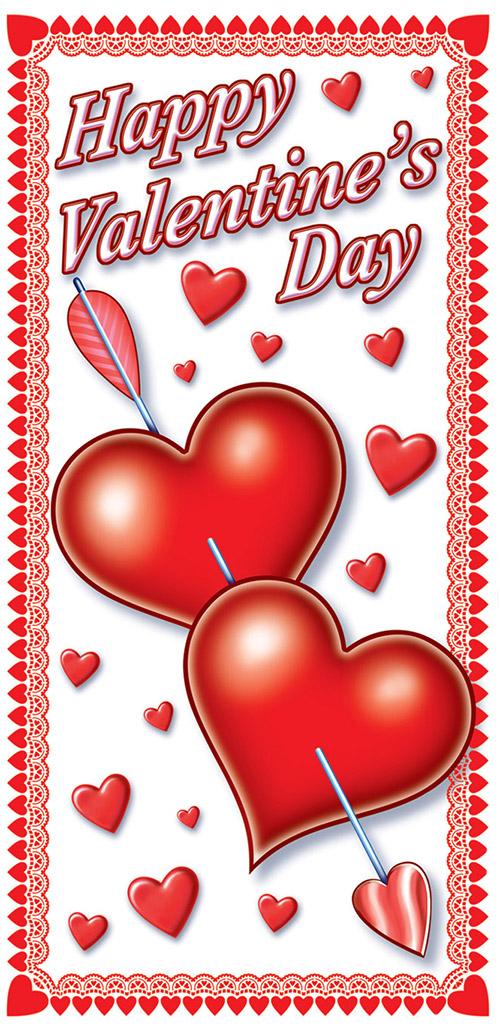 D coration de porte coeur saint valentin deguise toi for Decoration porte st valentin