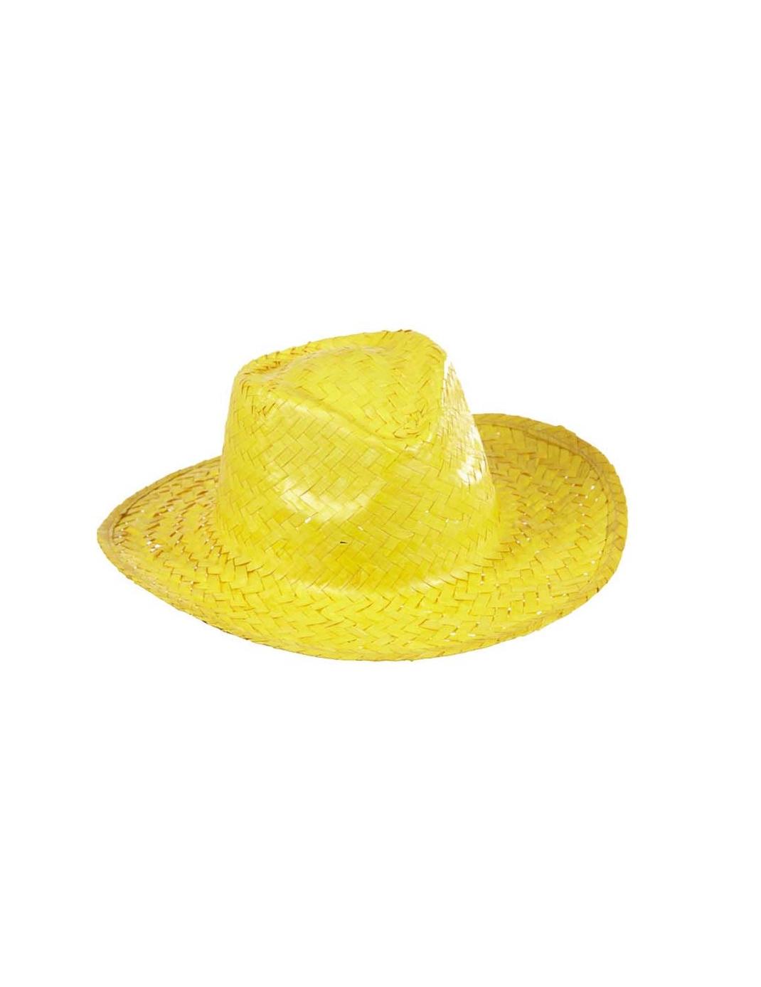Chapeau cowboy jaune en paille adulte deguise toi achat de chapeaux - Couleur jaune paille ...