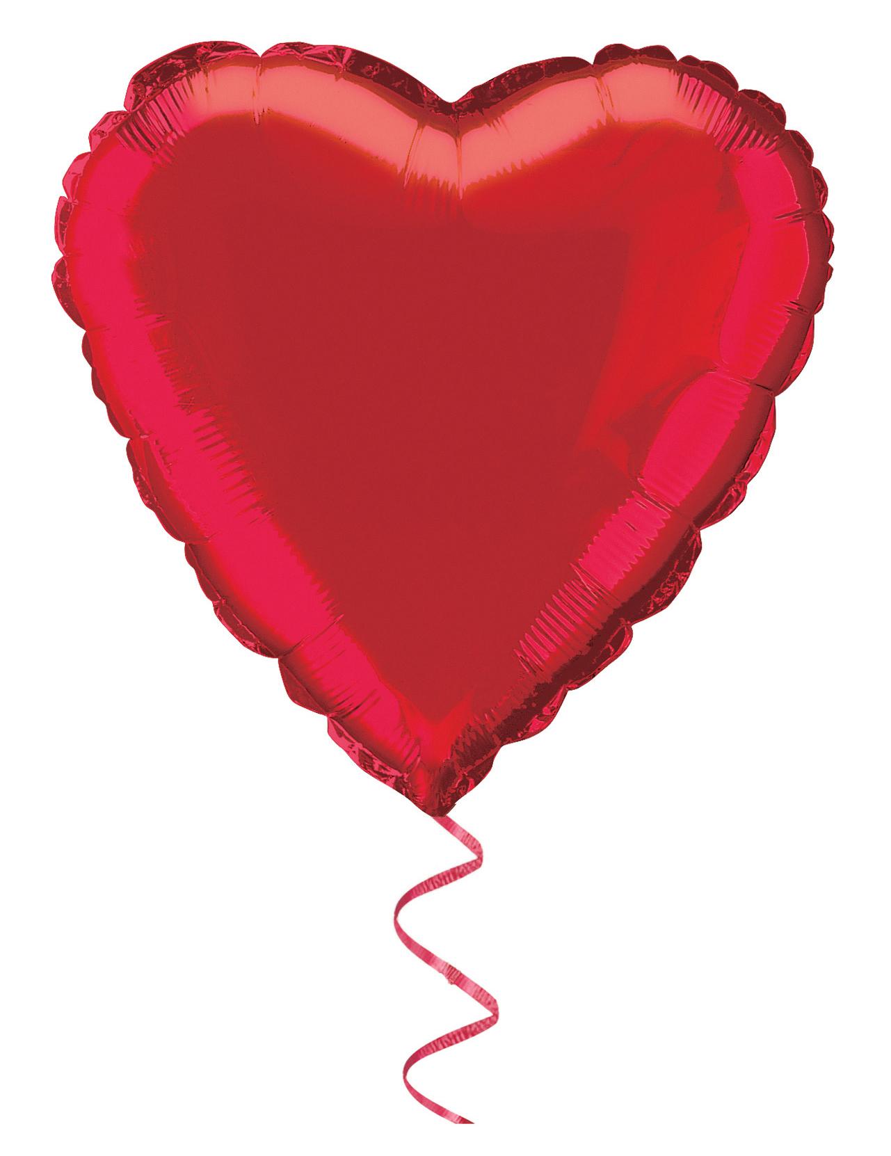 Ballon aluminium coeur rouge 45 cm achat de decoration - Decoration coeur rouge ...