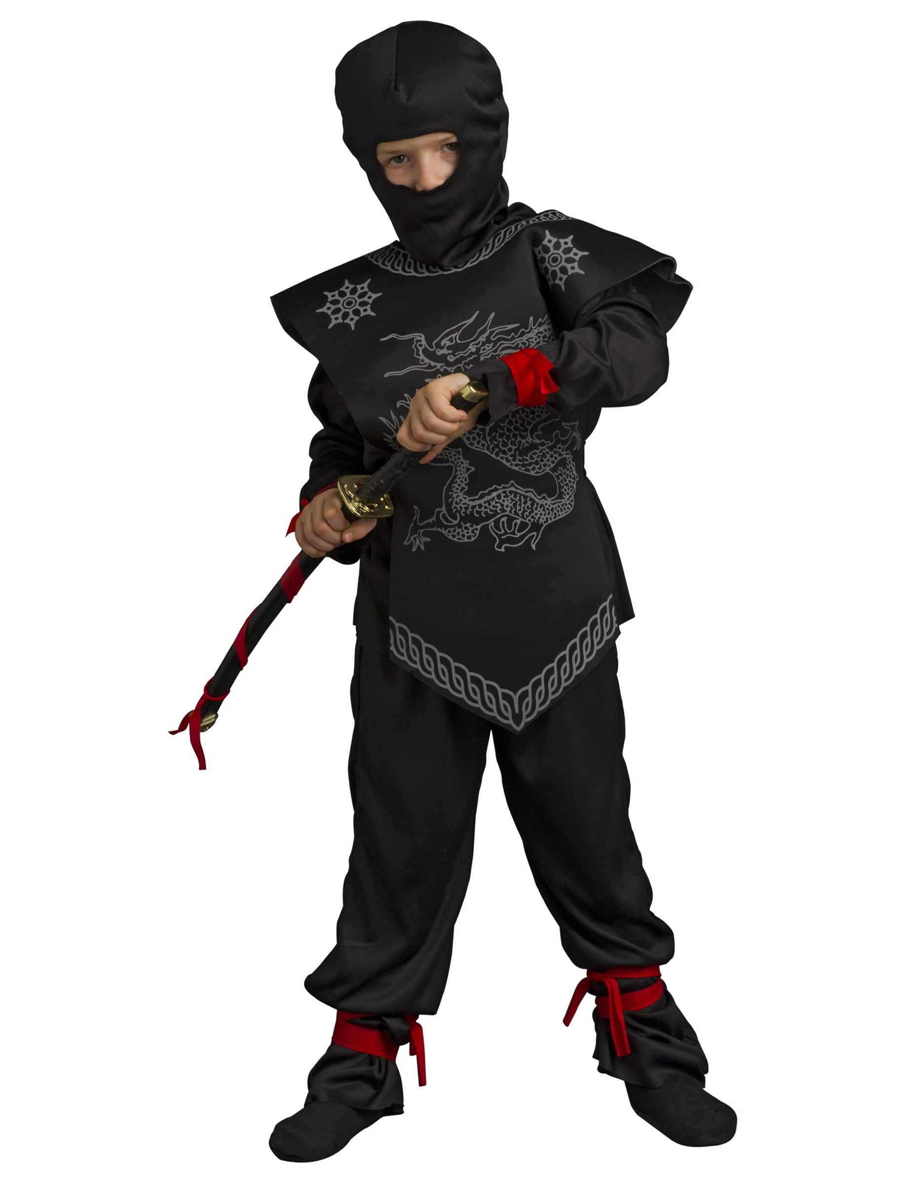 costume ninja nero bambino. Black Bedroom Furniture Sets. Home Design Ideas