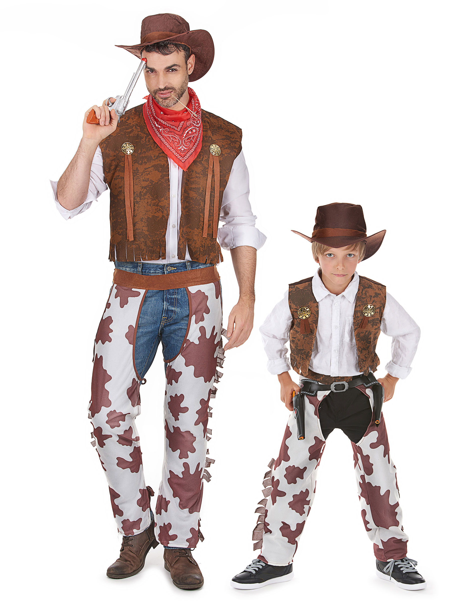 d guisement de couple cowboy p re et fils deguise toi achat de d guisements couples. Black Bedroom Furniture Sets. Home Design Ideas