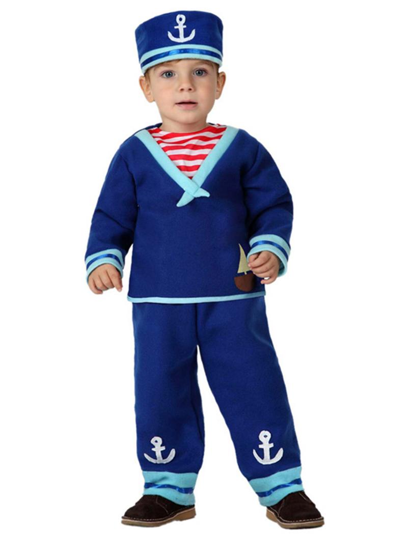 Disfraz de marinero azul bebé