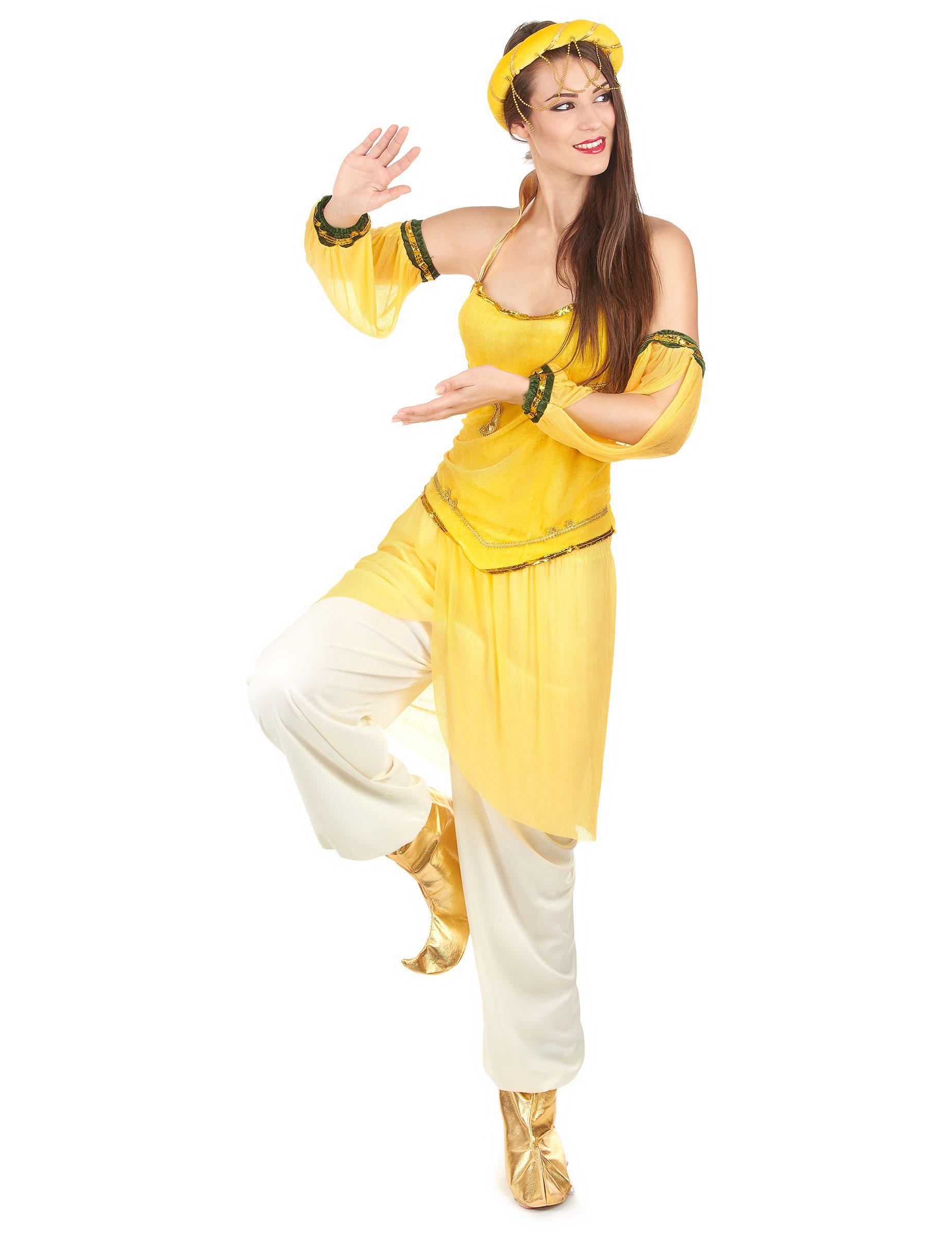 d guisement danseuse orientale jaune femme deguise toi. Black Bedroom Furniture Sets. Home Design Ideas