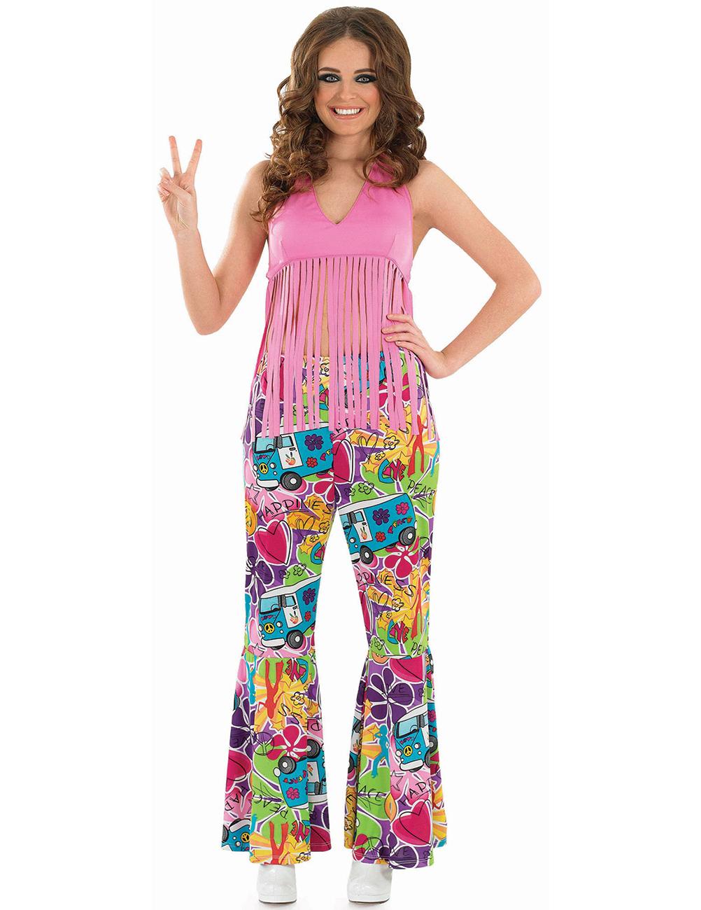 rosa hippie fransen oberteil f r damen kost me f r. Black Bedroom Furniture Sets. Home Design Ideas