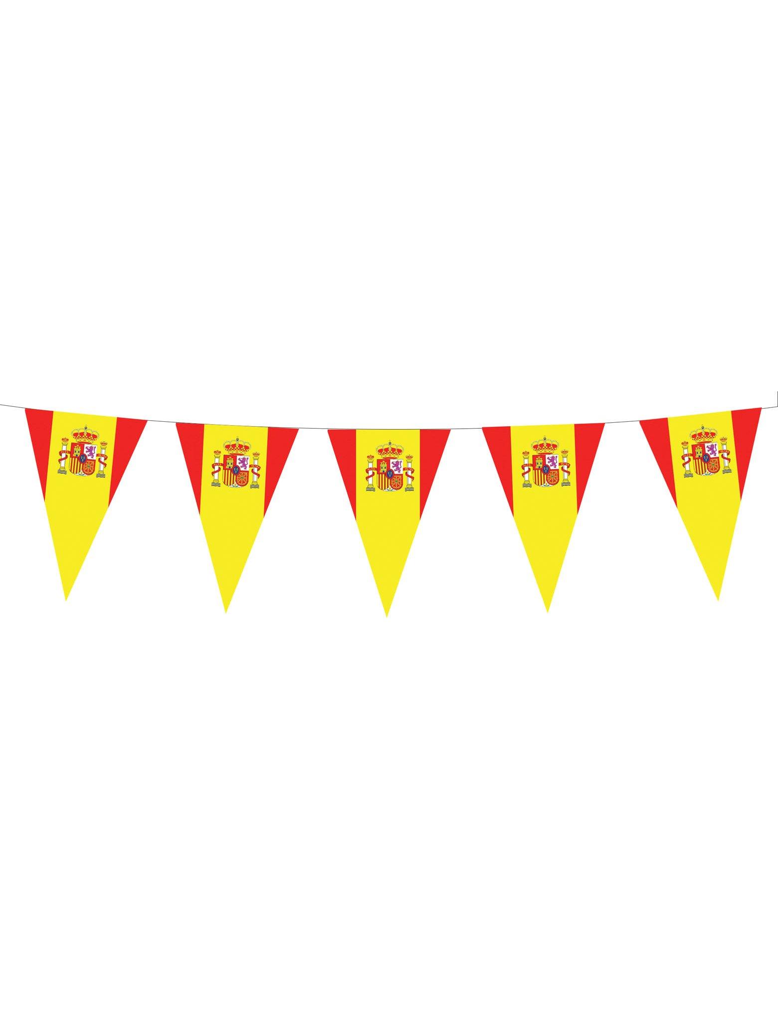 Guirlande drapeaux espagnols deguise toi achat de decoration animation - Image drapeau espagnol a imprimer ...