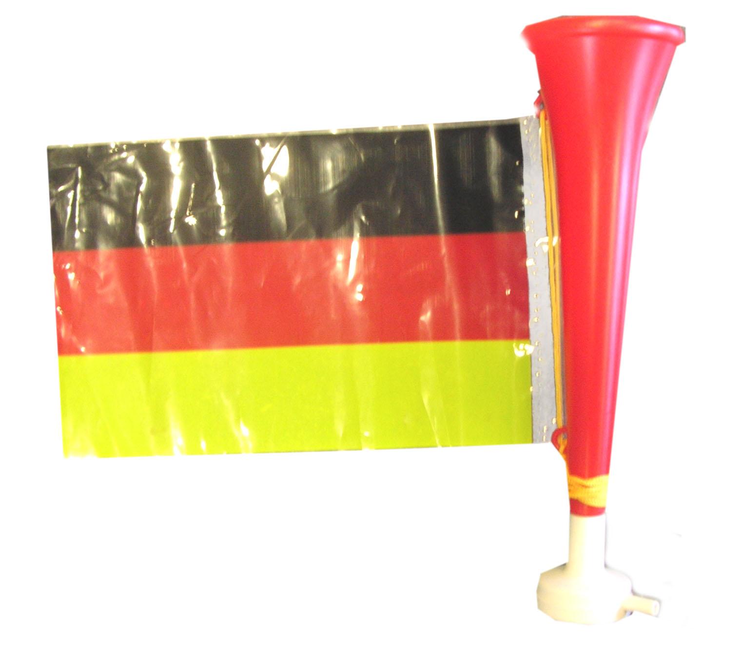 trompette football avec drapeau allemagne deguise toi achat de accessoires. Black Bedroom Furniture Sets. Home Design Ideas