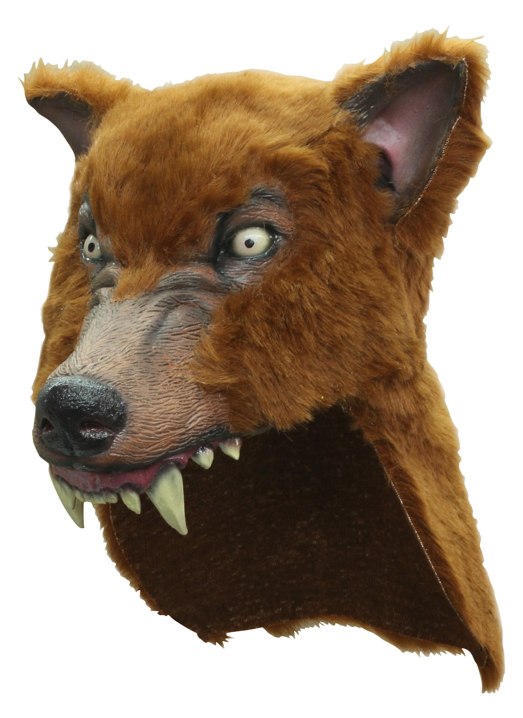 Masque loup marron adulte deguise toi achat de masques - Masque loup a imprimer ...