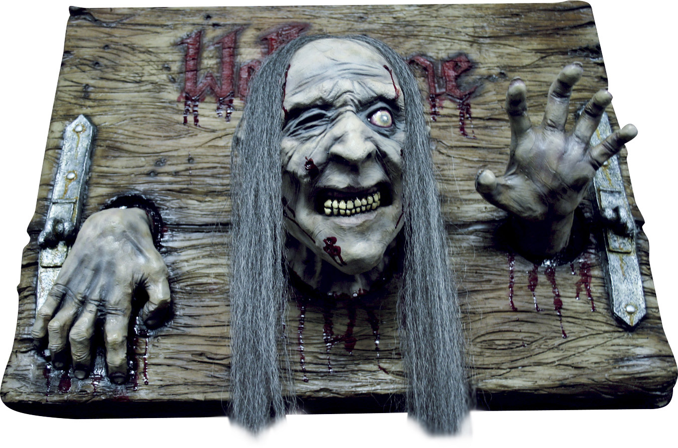 D coration plaque welcome zombie halloween deguise toi achat de decoration animation - Deco halloween tafel maak me ...