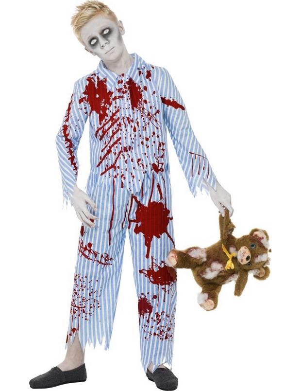 disfraz de zombie en pijama para ni o. Black Bedroom Furniture Sets. Home Design Ideas
