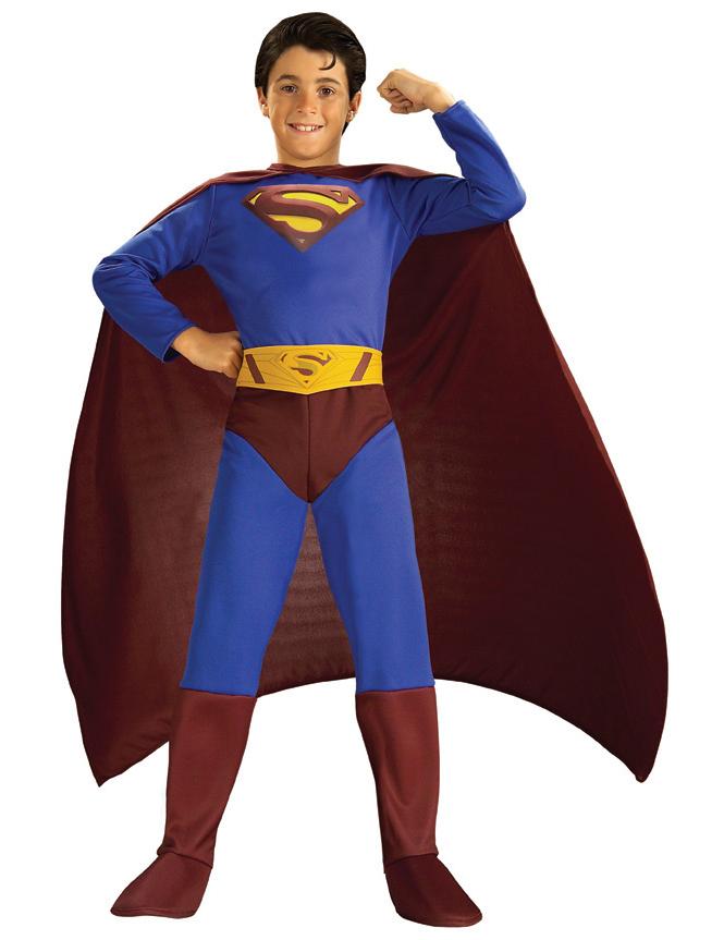 superman kost m mit umhang f r jungen. Black Bedroom Furniture Sets. Home Design Ideas