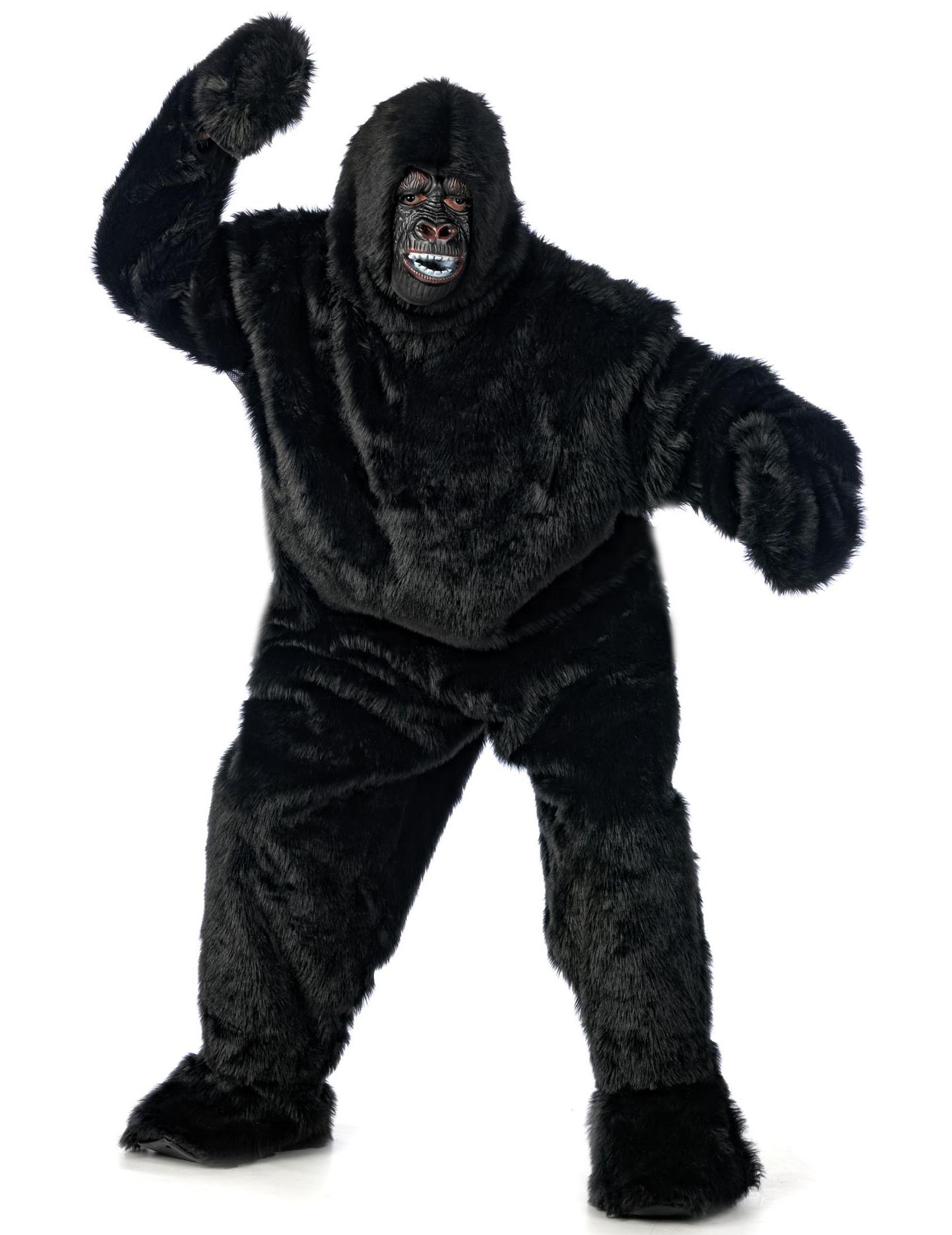 schwarzes gorilla kost m f r erwachsene kost me f r erwachsene und g nstige faschingskost me. Black Bedroom Furniture Sets. Home Design Ideas