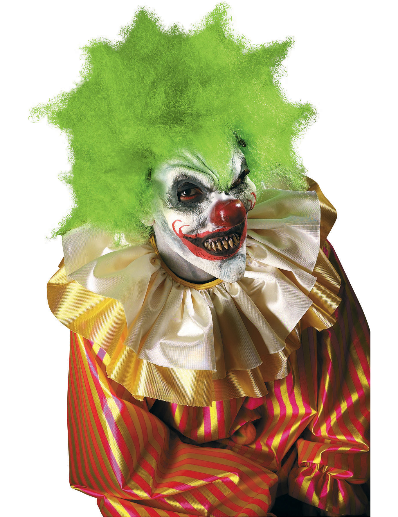 Maquillage de masque clown fou halloween adulte deguise for Decoration fenetre clown