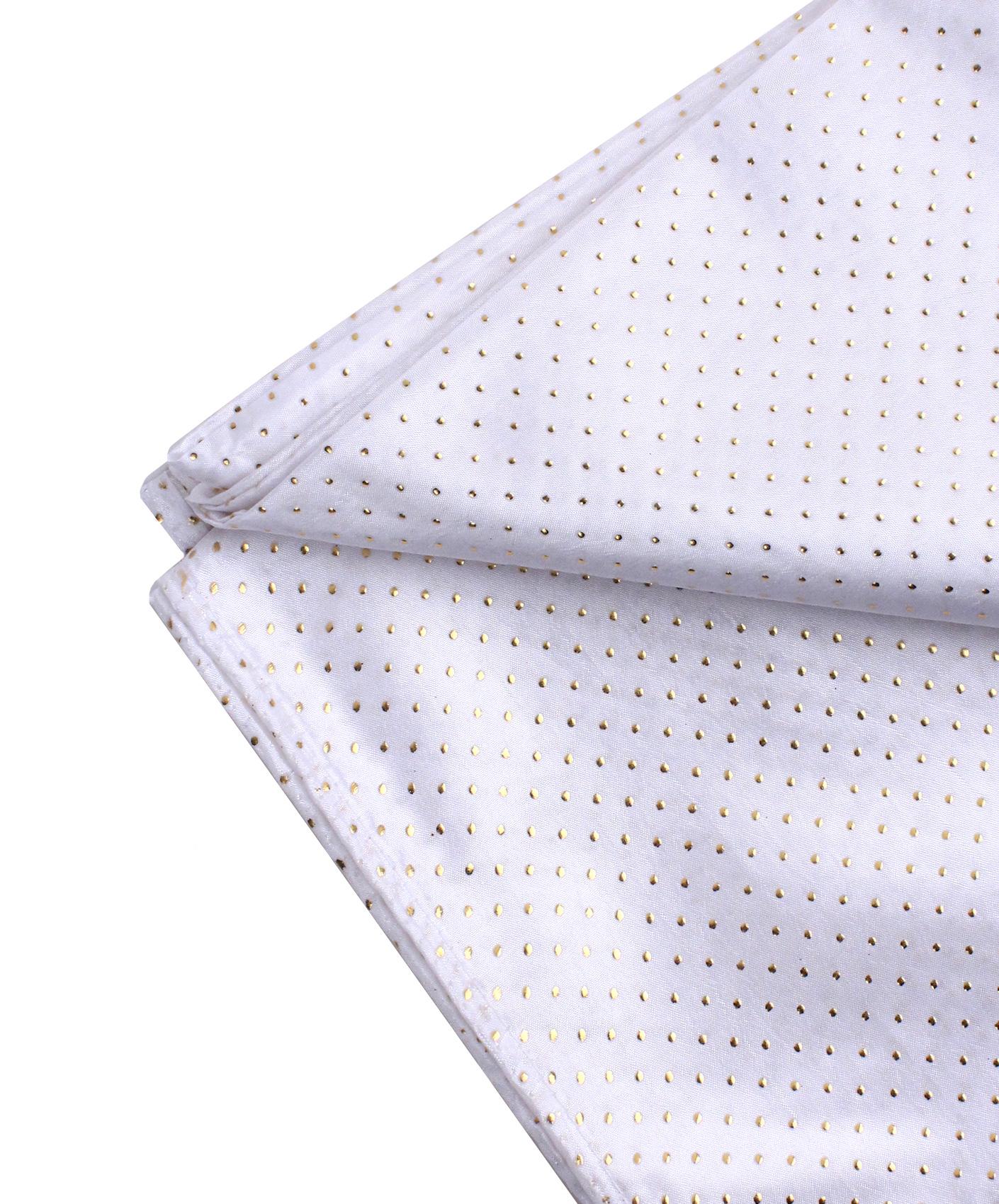 nappe carr e en tissu blanche et or 140 x 140 cm deguise toi achat de decoration animation. Black Bedroom Furniture Sets. Home Design Ideas
