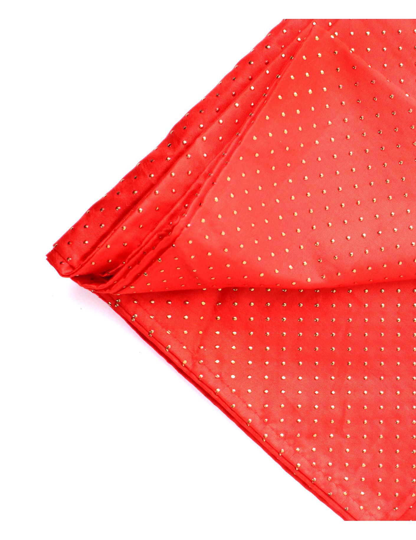 nappe carr e en tissu rouge et or deguise toi achat de decoration animation. Black Bedroom Furniture Sets. Home Design Ideas