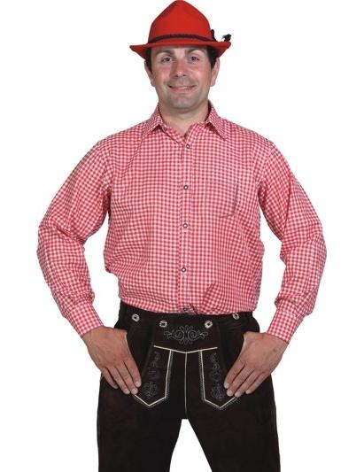 hemd rot wei kariert kost me f r erwachsene und g nstige faschingskost me vegaoo. Black Bedroom Furniture Sets. Home Design Ideas