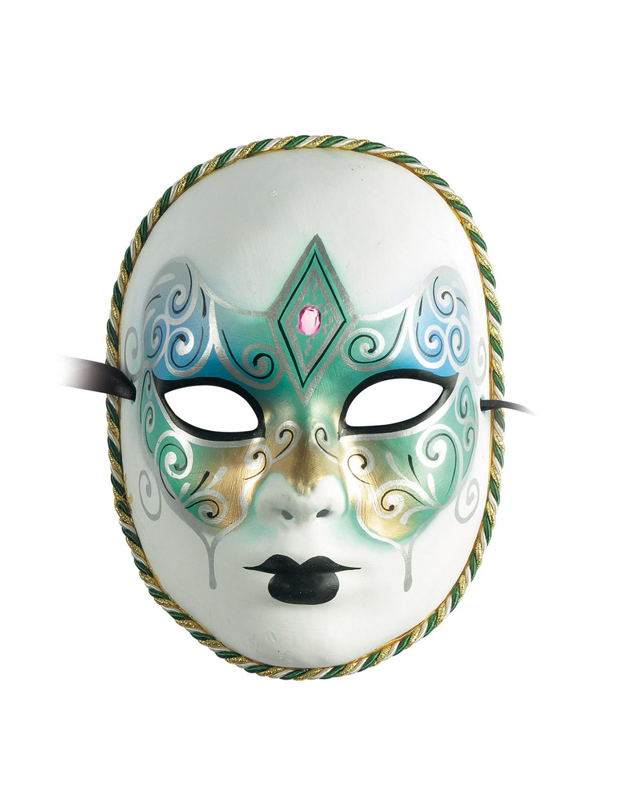 Masque v nitien vert dor adulte deguise toi achat de - Masque venitien a imprimer ...