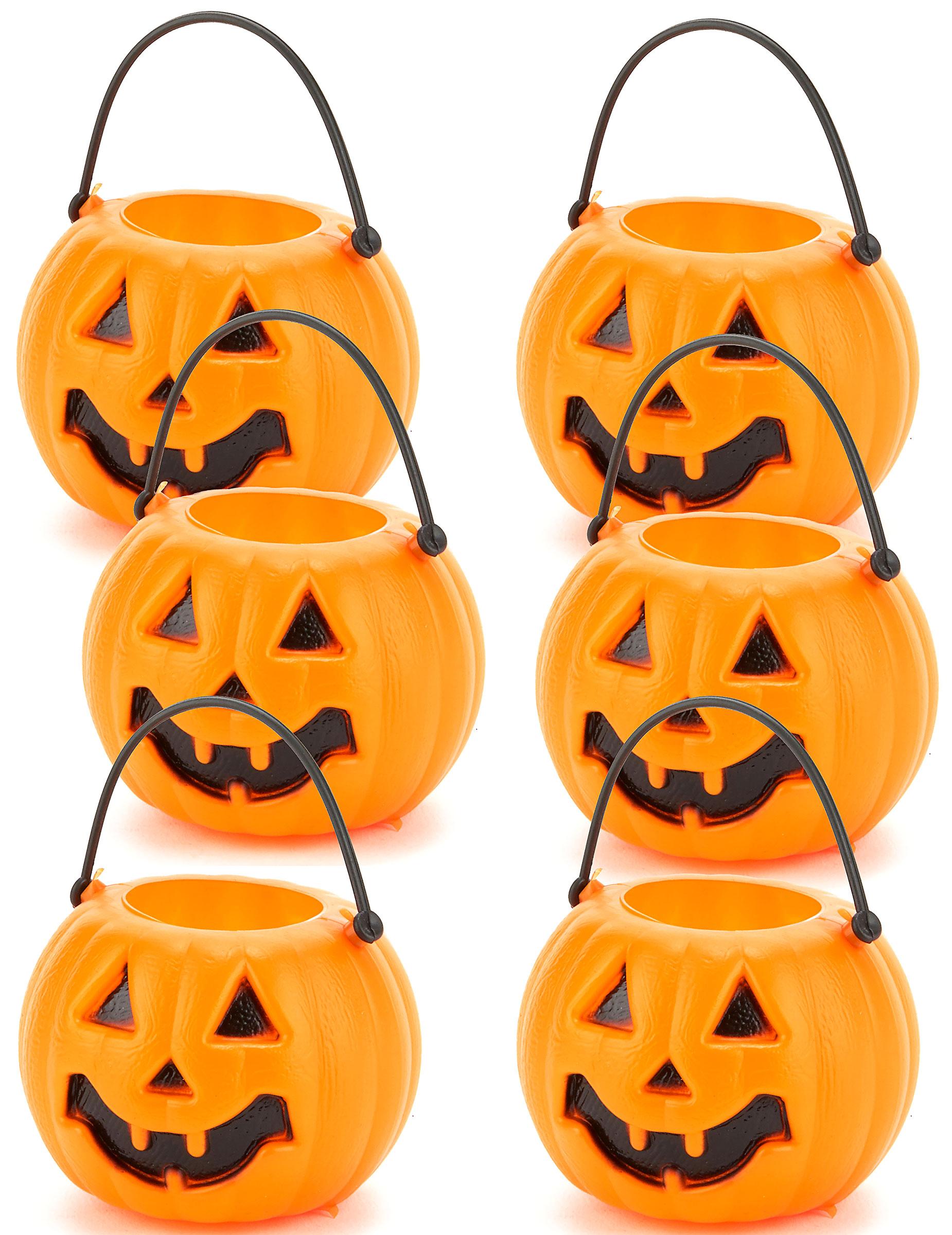 Lot 6 seaux citrouilles halloween deguise toi achat de decoration animation - Deguisetoi fr halloween ...