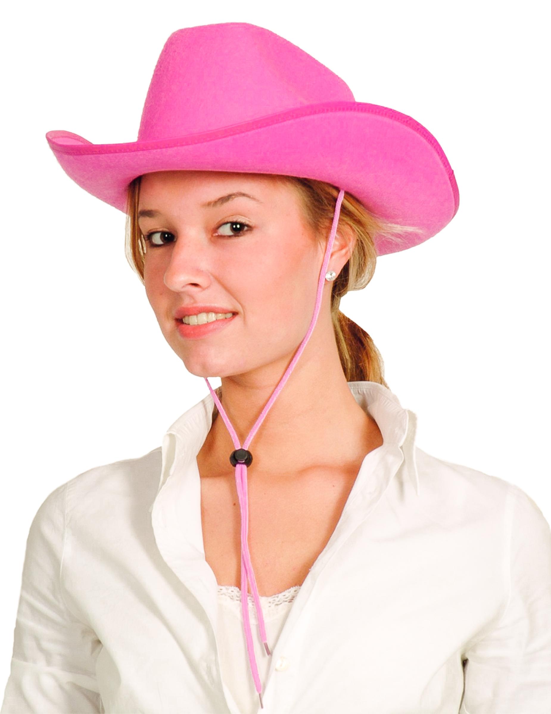 chapeau cowboy rose adulte deguise toi achat de chapeaux. Black Bedroom Furniture Sets. Home Design Ideas
