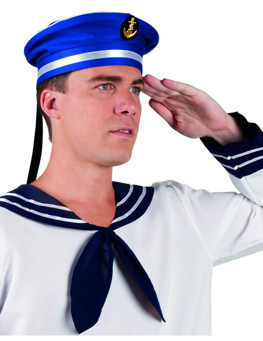 chapeau marin bleu adulte deguise toi achat de chapeaux. Black Bedroom Furniture Sets. Home Design Ideas
