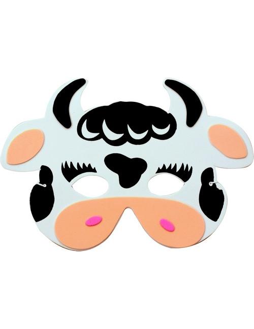 Mascaras de cara de vaca en foami - Imagui
