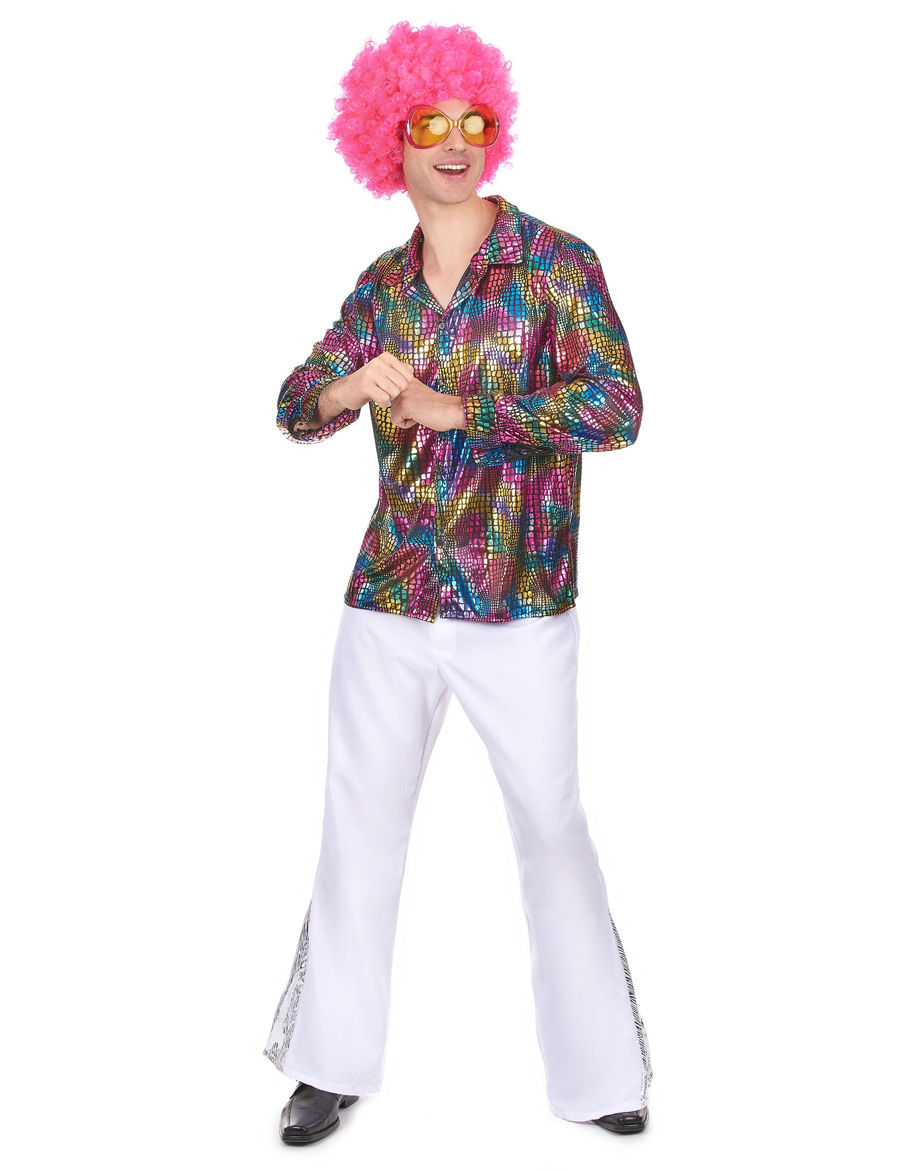 chemise disco homme multicolore deguise toi achat de. Black Bedroom Furniture Sets. Home Design Ideas