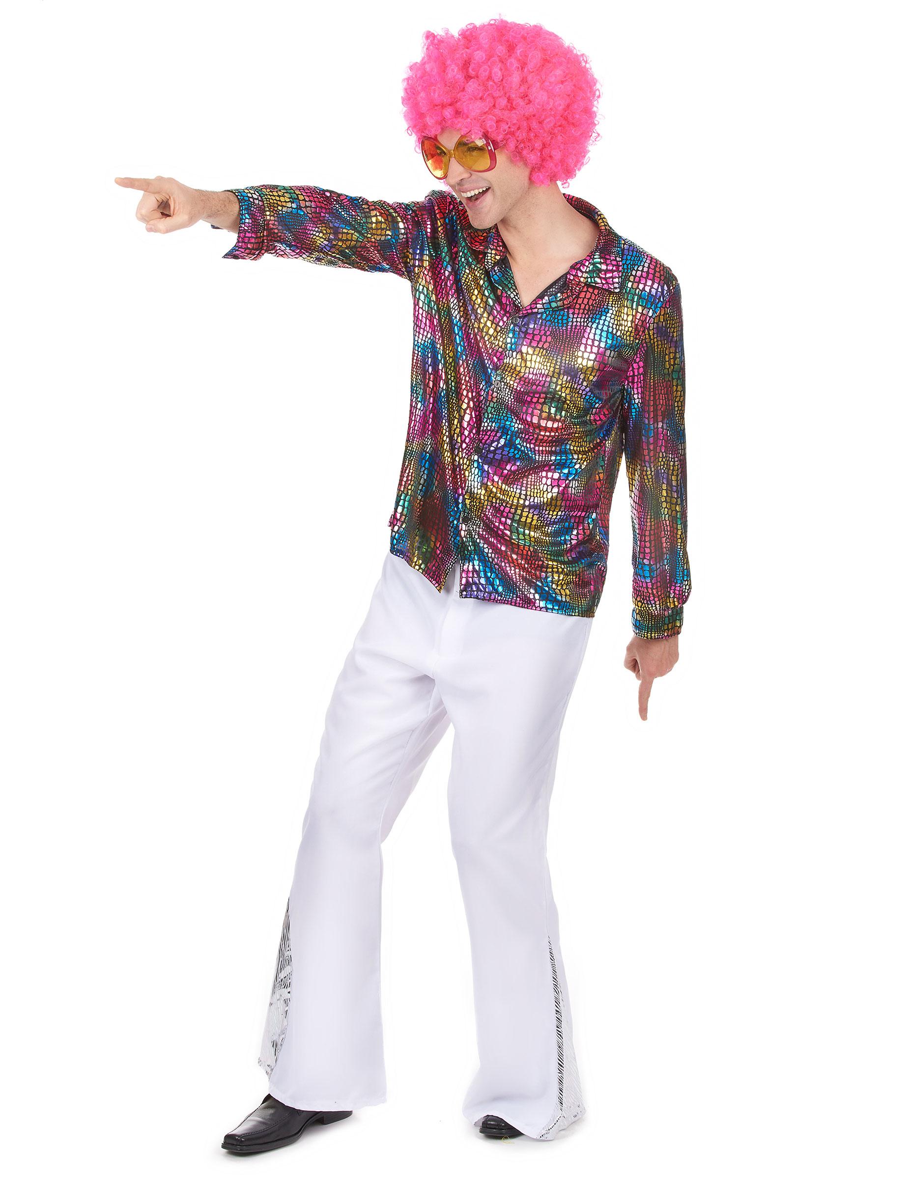 chemise disco homme multicolore deguise toi achat de d guisements adultes. Black Bedroom Furniture Sets. Home Design Ideas