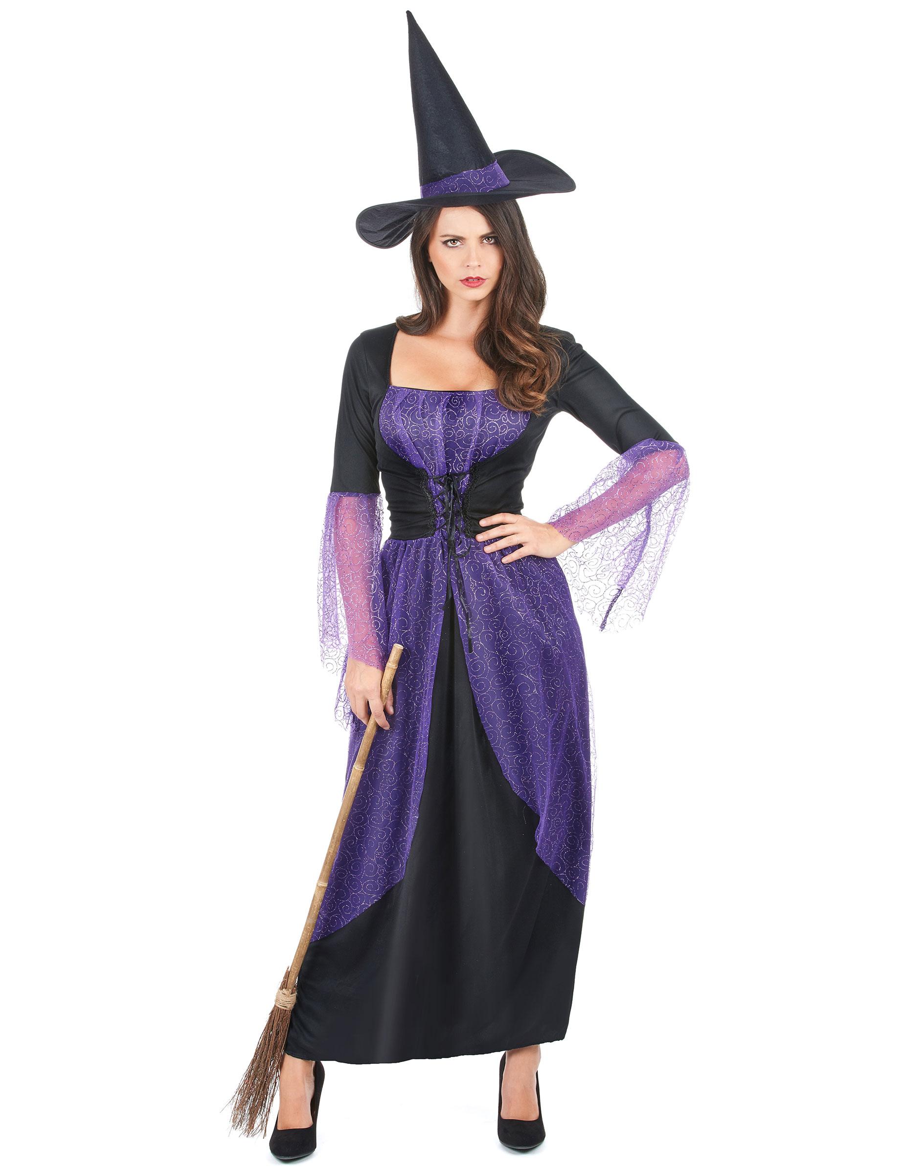 d guisement sorci re violette femme deguise toi achat. Black Bedroom Furniture Sets. Home Design Ideas