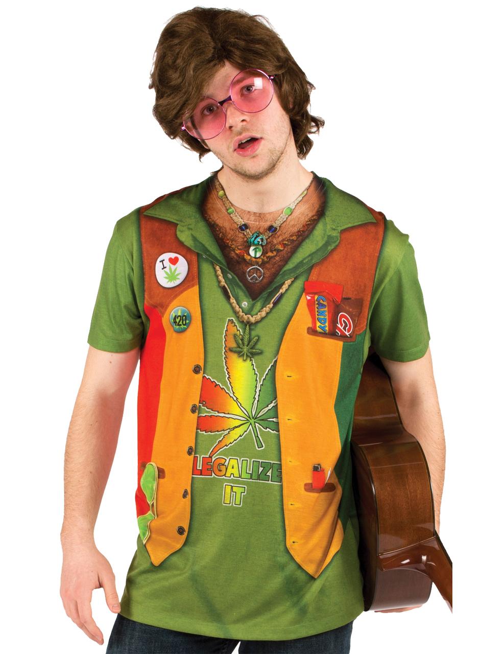 T shirt hippie adulte deguise toi achat de d guisements for Hippie t shirts australia