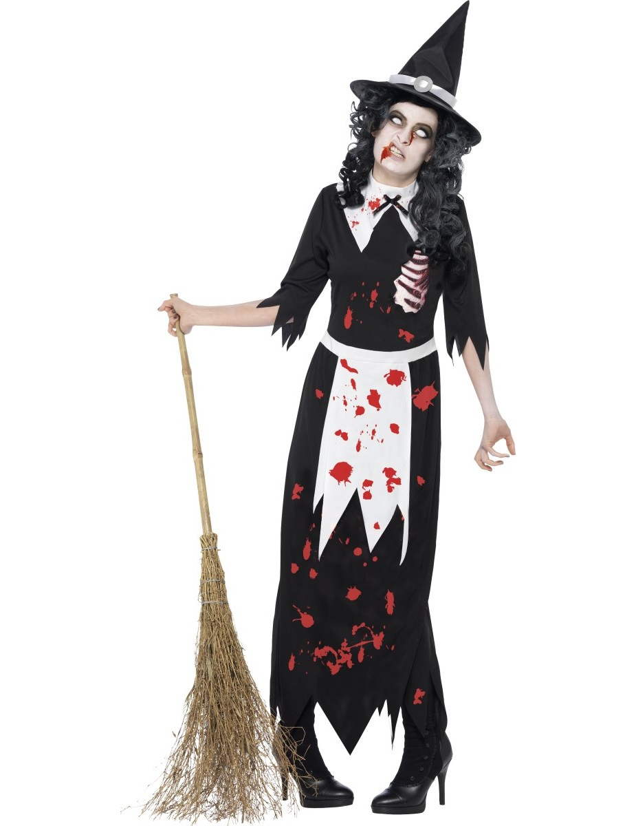 d guisement zombie sorci re femme halloween. Black Bedroom Furniture Sets. Home Design Ideas